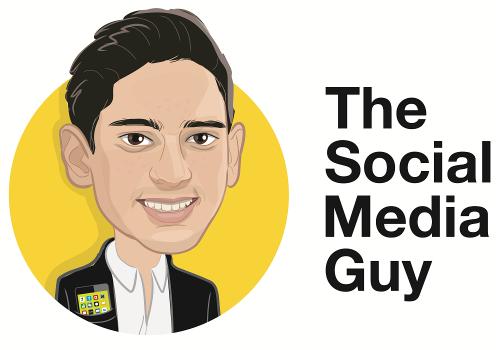 social media guy logo